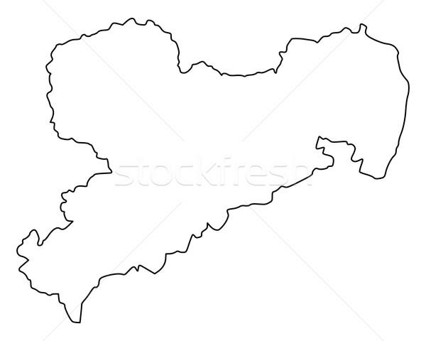 Harita vektör Almanya yalıtılmış örnek gri Stok fotoğraf © rbiedermann