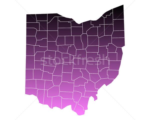 Mapa rosa eua vetor isolado ilustração Foto stock © rbiedermann