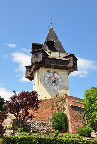 Clock tower in Graz, Austria Stock photo © rbiedermann
