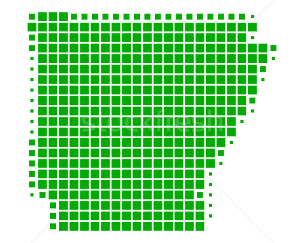 Stok fotoğraf: Harita · Arkansas · yeşil · model · Amerika · kare