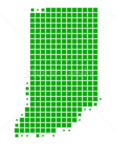 Stok fotoğraf: Harita · Indiana · yeşil · model · Amerika · ABD
