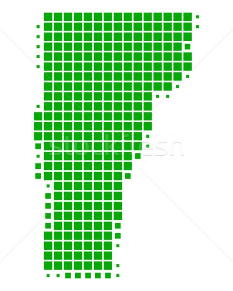 Mapa Vermont verde padrão américa EUA Foto stock © rbiedermann