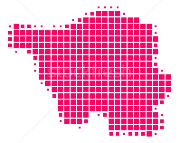 地図 パターン 紫色 広場 ベクトル 実例 ストックフォト © rbiedermann