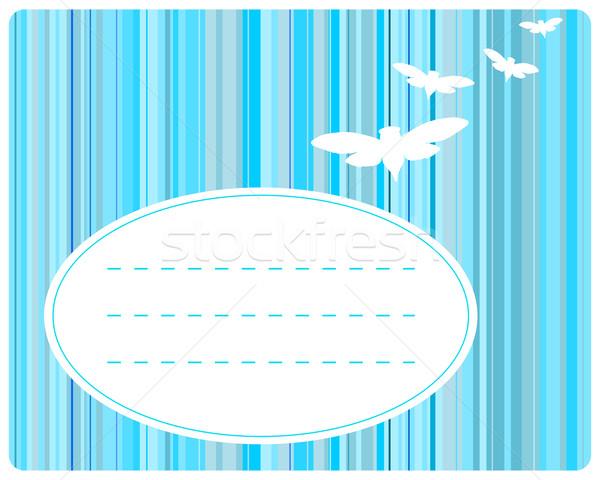 Tarjeta de felicitación detallado exacto ilustración luz azul Foto stock © rbiedermann