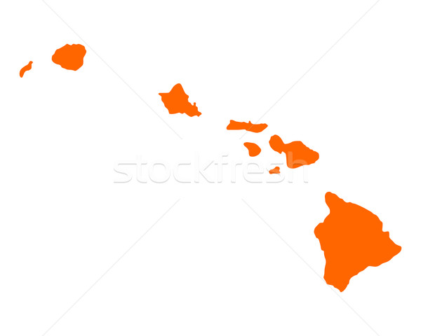 Kaart Hawaii amerika USA vector geïsoleerd Stockfoto © rbiedermann