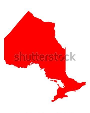 Térkép Ontario piros vektor Kanada izolált Stock fotó © rbiedermann