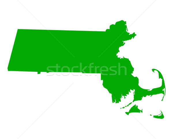 Harita Massachusetts yeşil seyahat Amerika ABD Stok fotoğraf © rbiedermann