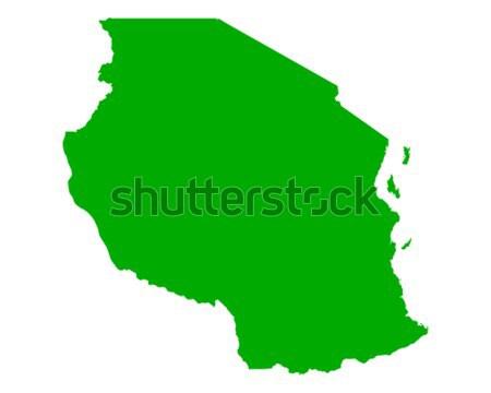 карта Танзания зеленый путешествия вектора Сток-фото © rbiedermann