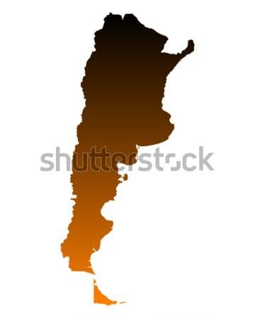 Mapa Argentina vector aislado ilustración Foto stock © rbiedermann