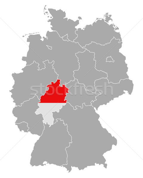Map of Germany with flag of Hesse Stock photo © rbiedermann