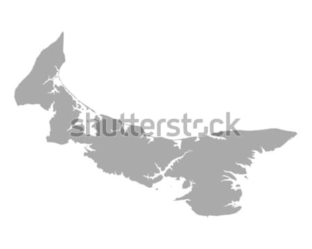 Mapa isla del príncipe eduardo viaje isla Canadá aislado Foto stock © rbiedermann