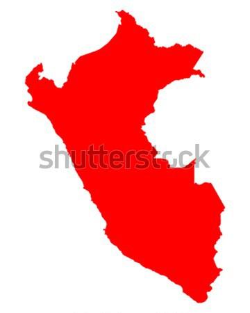 Mapa Perú rosa púrpura vector aislado Foto stock © rbiedermann