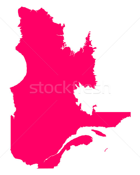 Harita Quebec seyahat mor vektör Kanada Stok fotoğraf © rbiedermann