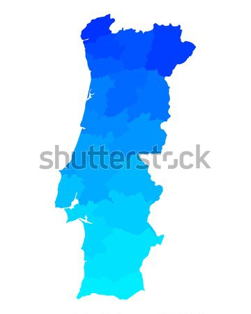 Map of Portugal Stock photo © rbiedermann
