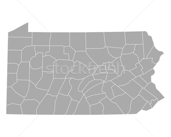 Map of Pennsylvania Stock photo © rbiedermann