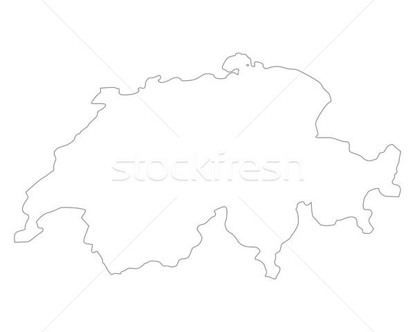 Mappa Svizzera sfondo isolato illustrazione Foto d'archivio © rbiedermann