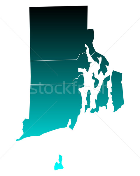 Mapa Rhode Island verde azul viajar ilha Foto stock © rbiedermann