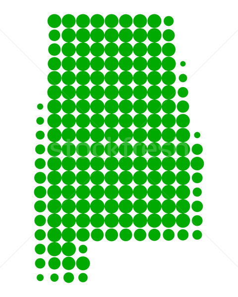 Harita Alabama yeşil model Amerika daire Stok fotoğraf © rbiedermann