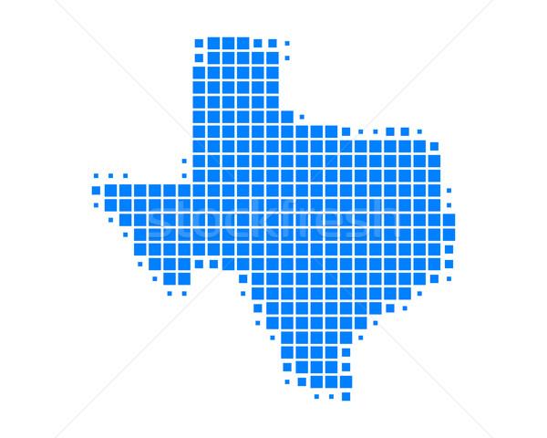 地図 テキサス州 青 パターン アメリカ 広場 ストックフォト © rbiedermann
