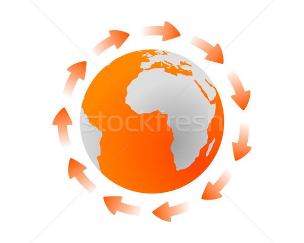 グローバル サイクル 世界中 地球 オレンジ スペース ストックフォト © rbiedermann