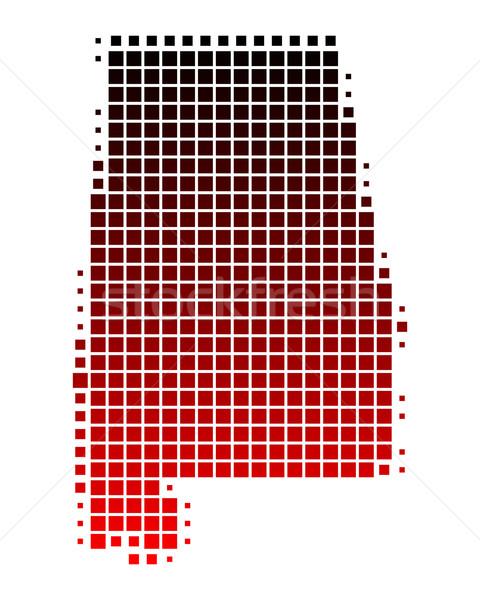 карта Алабама красный шаблон Америки квадратный Сток-фото © rbiedermann