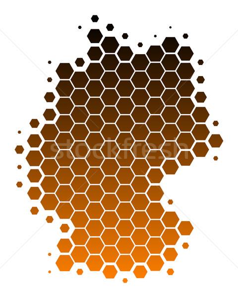 Foto stock: Mapa · Alemania · viaje · patrón · punto · marrón