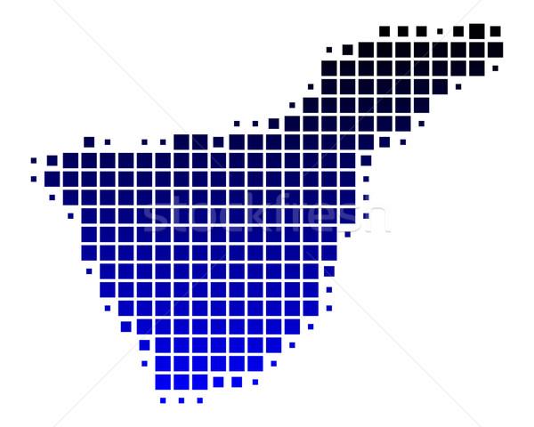 Kaart tenerife Blauw patroon vierkante illustratie Stockfoto © rbiedermann