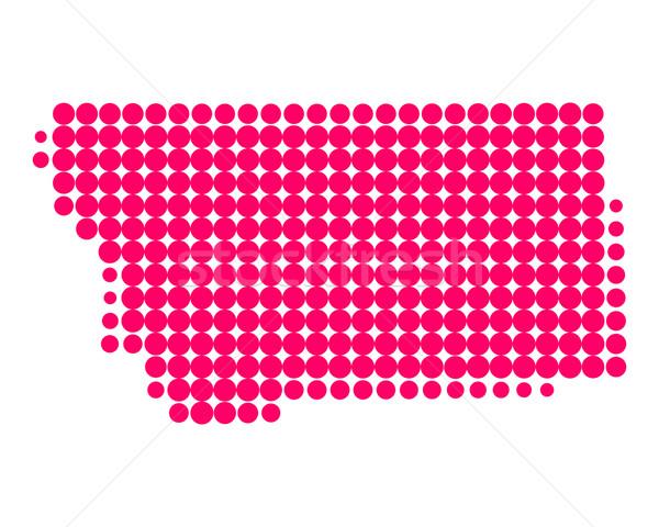 ストックフォト: 地図 · モンタナ · パターン · アメリカ · 紫色 · サークル
