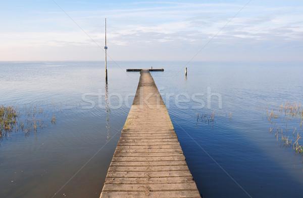 Mer pier plage nature paysage Voyage Photo stock © rbiedermann