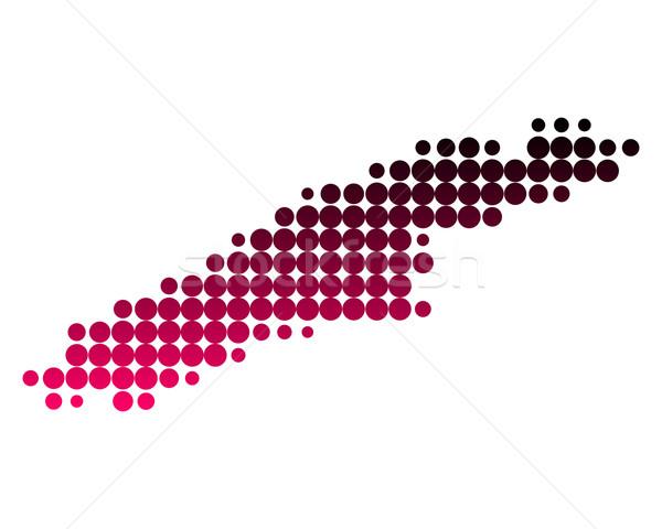 Mappa isola pattern rosa viola cerchio Foto d'archivio © rbiedermann