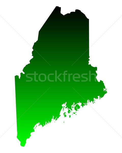Térkép Maine zöld utazás Amerika USA Stock fotó © rbiedermann