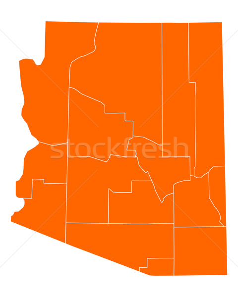 Kaart Arizona reizen USA geïsoleerd illustratie Stockfoto © rbiedermann