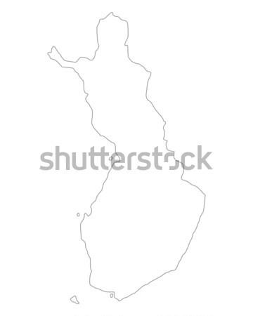 Kaart Finland achtergrond geïsoleerd illustratie Stockfoto © rbiedermann