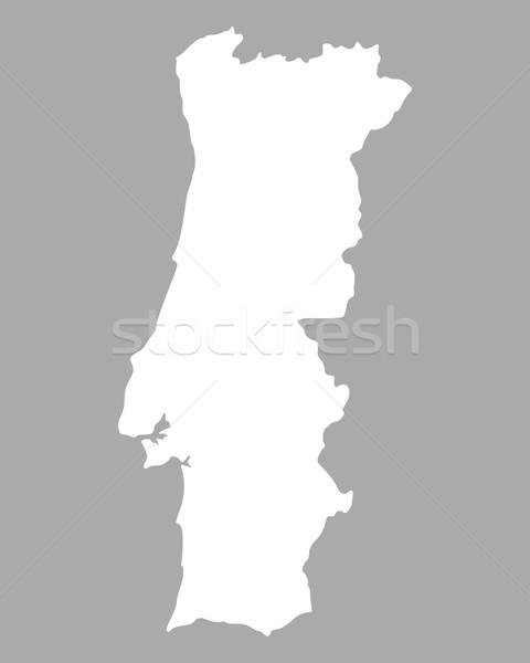 Mapa Portugal fondo aislado ilustración Foto stock © rbiedermann
