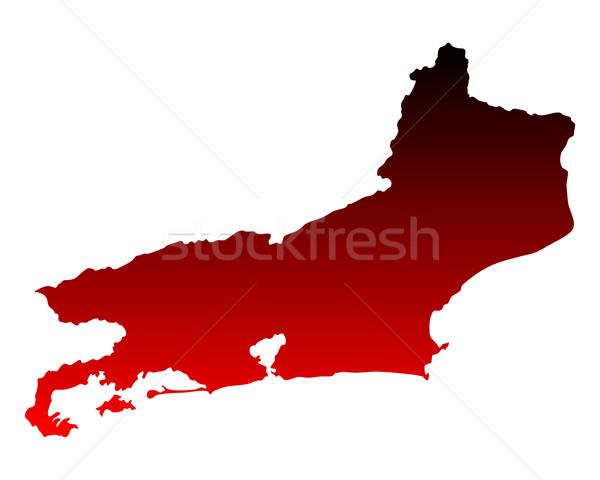 Harita Rio de Janeiro kırmızı vektör yalıtılmış örnek Stok fotoğraf © rbiedermann