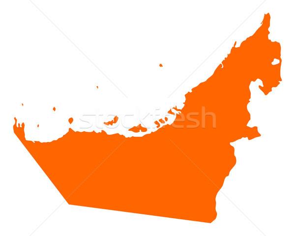 Mapa Emirados Árabes Unidos fundo Árabe linha vetor Foto stock © rbiedermann