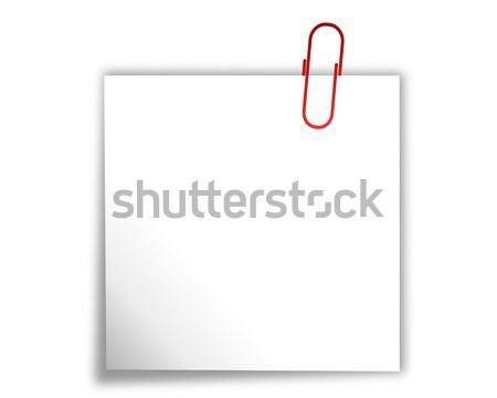 скрепку служба белый сведению лист Сток-фото © rbiedermann