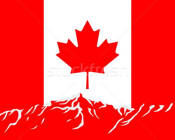 Сток-фото: гор · флаг · Канада · путешествия