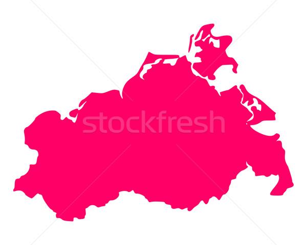 Map of Mecklenburg-Vorpommern Stock photo © rbiedermann