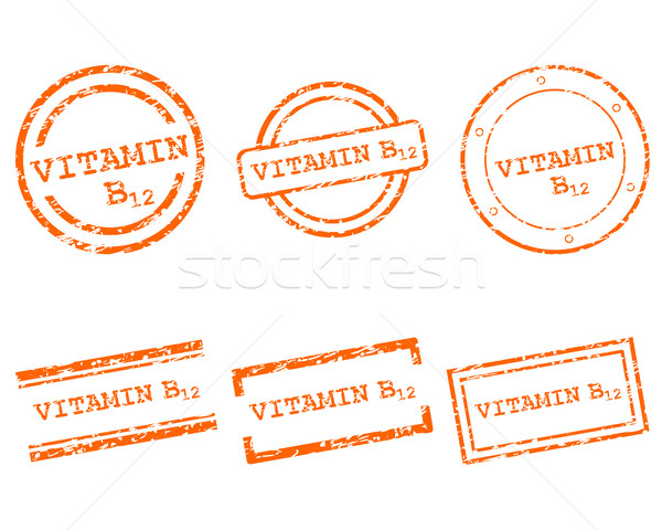 Vitamin B12 stamps Stock photo © rbiedermann