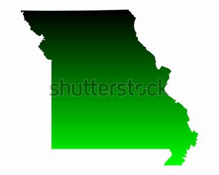 Carte Missouri vert Voyage Amérique USA Photo stock © rbiedermann