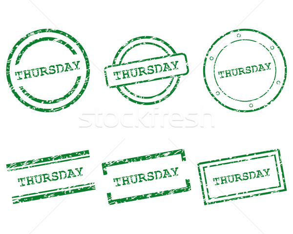 Thursday stamps Stock photo © rbiedermann