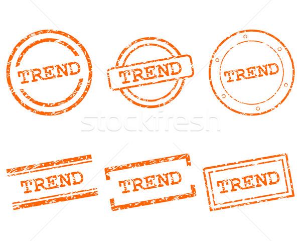 Tendenza francobolli timbro grafica tag sigillo Foto d'archivio © rbiedermann
