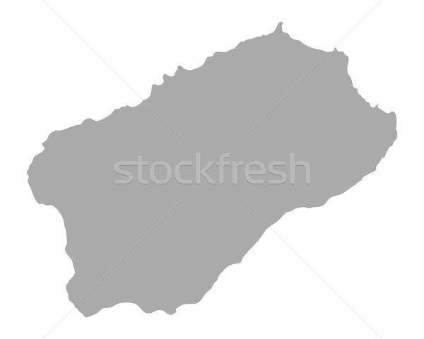 Map of Santo Antao Stock photo © rbiedermann