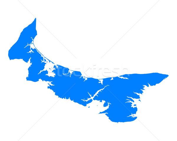 Térkép Prince Edward-sziget háttér vonal vektor Kanada Stock fotó © rbiedermann
