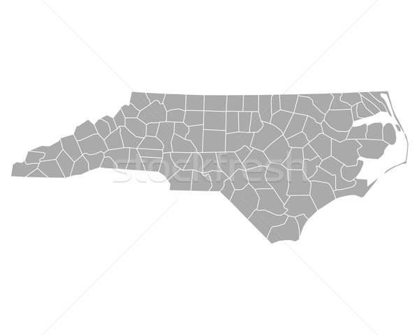Kaart North Carolina achtergrond lijn USA vector Stockfoto © rbiedermann