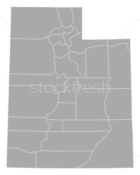 Carte Utah fond ligne USA vecteur Photo stock © rbiedermann