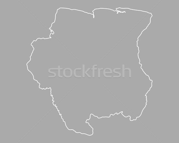 Сток-фото: карта · Суринам · фон · изолированный · иллюстрация