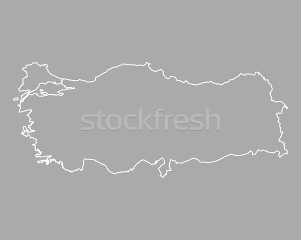 Map of Turkey vector illustration © Robert Biedermann (rbiedermann ...