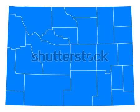 地図 ワイオミング州 青 旅行 米国 孤立した ストックフォト © rbiedermann